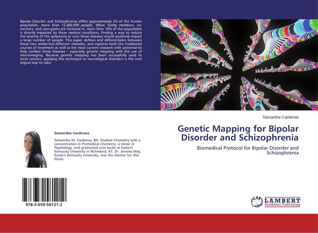 Genetic Mapping for Bipolar Disorder and Schizophrenia als Buch von Samantha Cardenas - LAP Lambert Academic Publishing