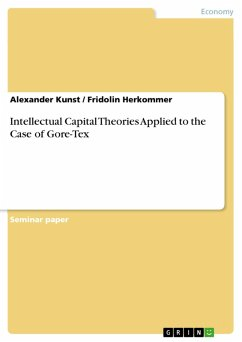 Intellectual Capital Theories Applied to the Case of Gore-Tex (eBook, PDF) - Kunst, Alexander; Herkommer, Fridolin