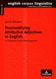 Postmodifying Attributive Adjectives in English - Lars M. Blöhdorn