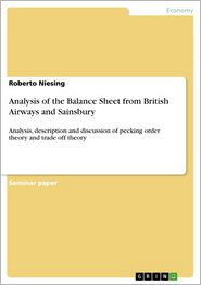 Analysis of the Balance Sheet from British Airways and Sainsbury: Analysis, description and discussion of pecking order theory and trade off theory - Roberto Niesing
