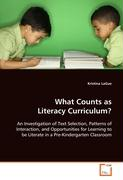 What Counts as Literacy Curriculum?