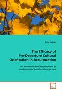 The Efficacy of Pre-Departure Cultural Orientation in Acculturation