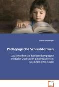 Gröblinger Ortrun: Pädagogische Schreibformen