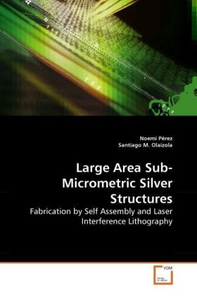 Large Area Sub-Micrometric Silver Structures - Fabrication by Self Assembly and Laser Interference Lithography