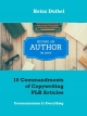 10 Commandments of Copywriting PLR Articles - Heinz Duthel