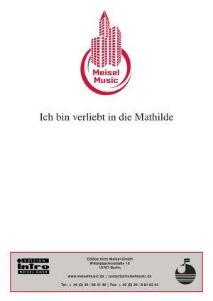 Ich bin verliebt in die Mathilde: Single Songbook