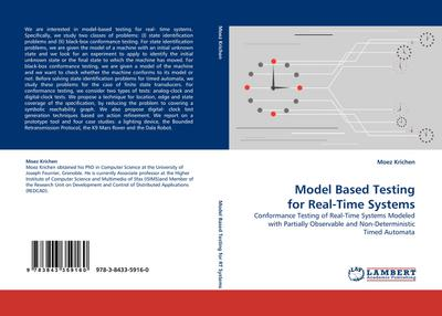 Model Based Testing for Real-Time Systems - Moez Krichen