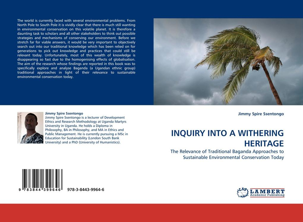 INQUIRY INTO A WITHERING HERITAGE als Buch von Jimmy Spire Ssentongo - LAP Lambert Acad. Publ.