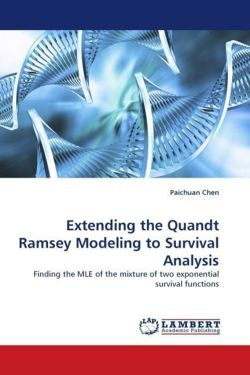Extending the Quandt Ramsey Modeling to Survival Analysis: Finding the MLE of the mixture of two exponential survival functions
