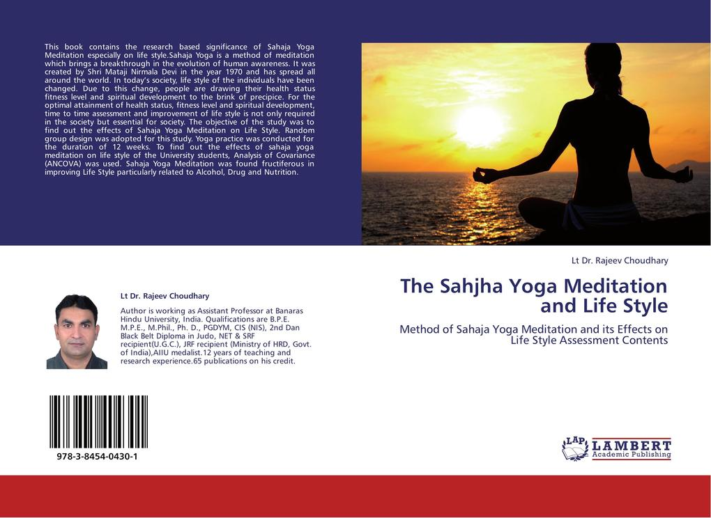 The Sahjha Yoga Meditation and Life Style als Buch von Lt Dr. Rajeev Choudhary - LAP Lambert Acad. Publ.
