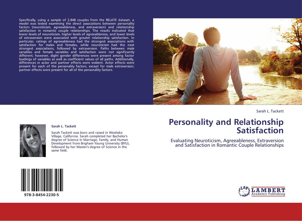 Personality and Relationship Satisfaction als Buch von Sarah L. Tackett - LAP Lambert Acad. Publ.