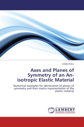 Axes and Planes of Symmetry of an An-isotropic Elastic Material als Buch von Siddra Rana - LAP Lambert Academic Publishing