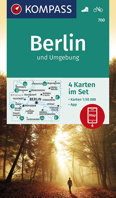 4-Karten-Set Berlin und Umgebung - Kompass