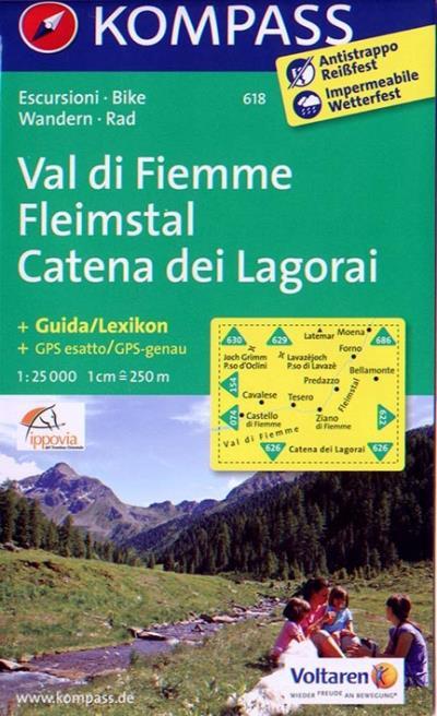 Fleimstal / Val di Fiemme / Catena dei Lagorai 1 : 25 000 - Kompass Karten