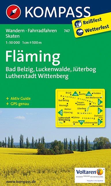 Wander- und Radwanderkarte Fläming - Kompass