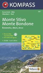 Carta escursionistica n. 687. Trentino, Veneto. Monte Stivo, Monte Bo ndone, Rovereto, Mori, Arco 1:25.000. Adatto a GPS. DVD-ROM. Digital map