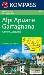 Carta escursionistica n. 646. Toscana, Umbria, Abruzzi. Alpi Apuane, Garfagnana, Carrara, Viareggio 1:50.000