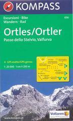 Carta escursionistica n. 636. Trentino, Veneto. Ortles, Passo dello Stelvio, Valfurva 1:25.000. Adatto a GPS. DVD-ROM. Digital map