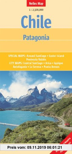 Gebr. - Chile - Patagonia 1 : 2 500 000 (Nelles Map)