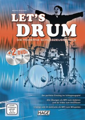 Let's Drum + 2 DVDs