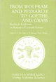 From Wolfram and Petrarch to Goethe and Grass