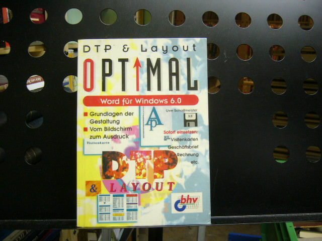 DTP & Layout Optimal Word für Windows 6.0. - Schaffmeister, Uwe