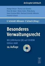 Besonderes Verwaltungsrecht - Eberhard Schmidt-A��mann (editor), Friedrich Schoch (editor)