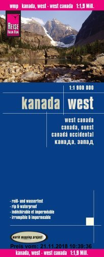 Gebr. - Reise Know-How Landkarte Kanada West (1:1 900 000)
