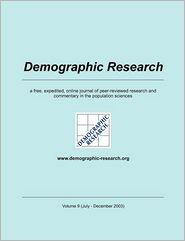 Demographic Research, Volume 9 - Max-Planck-Institute f r demograf. Fors (Editor)