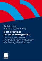 Best Practices im Value Management