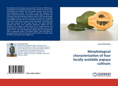 Morphological characterization of four locally available papaya cultivars - Jean Nicola Baxy