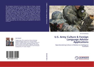 U.S. Army Culture & Foreign Language Advisor Applications - Jim Schnell