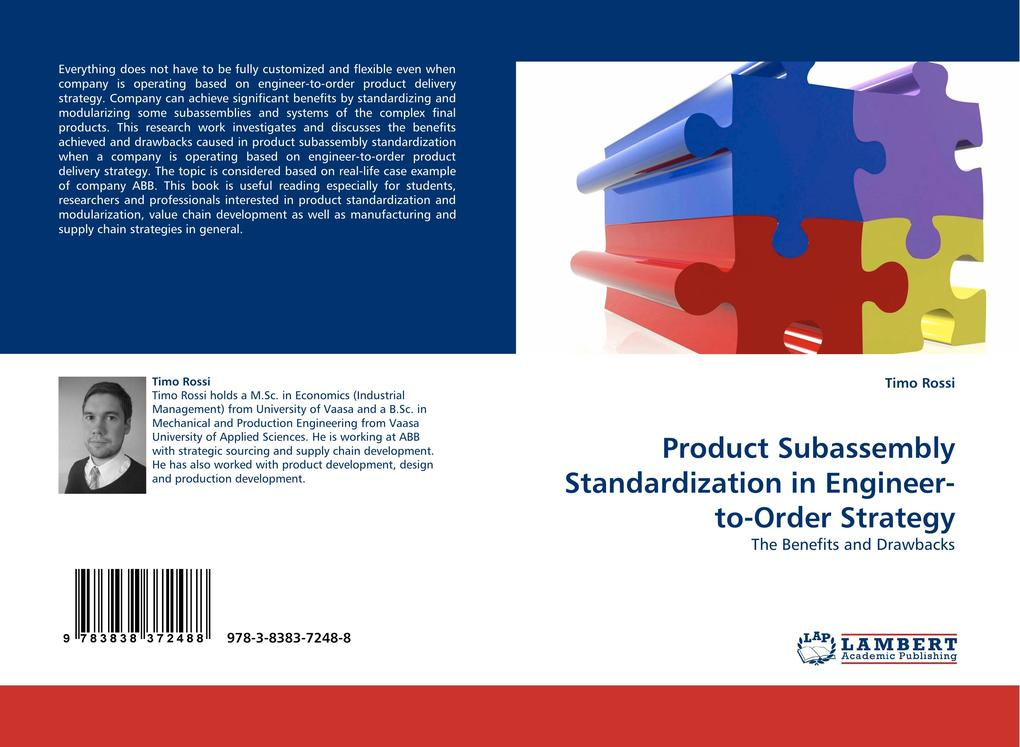 Product Subassembly Standardization in Engineer-to-Order Strategy als Buch von Timo Rossi - LAP Lambert Acad. Publ.