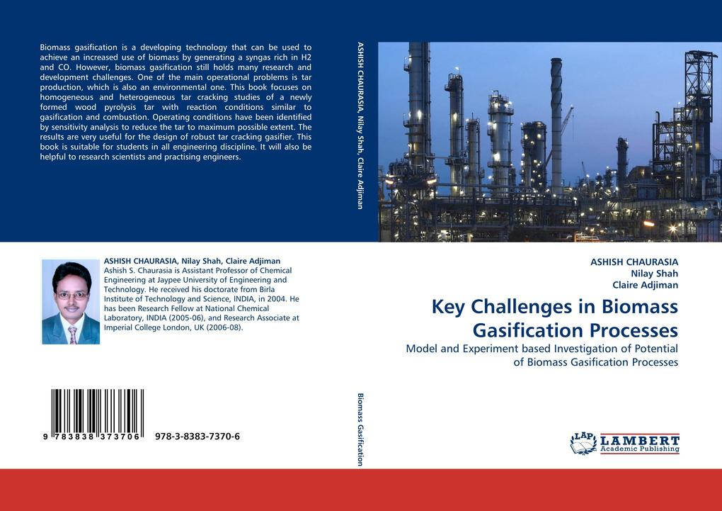 Key Challenges in Biomass Gasification Processes als Buch von ASHISH CHAURASIA, Nilay Shah, Claire Adjiman - LAP Lambert Acad. Publ.