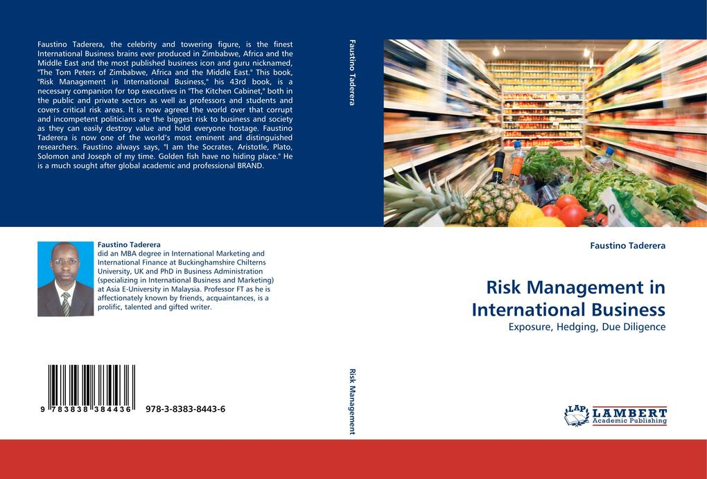 Risk Management in International Business als Buch von Faustino Taderera - LAP Lambert Acad. Publ.