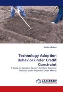 Technology Adoption Behavior under Credit Constraint