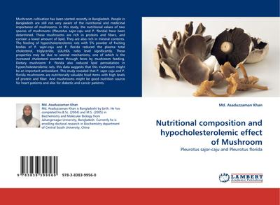 Nutritional composition and hypocholesterolemic effect of Mushroom - Md. Asaduzzaman Khan