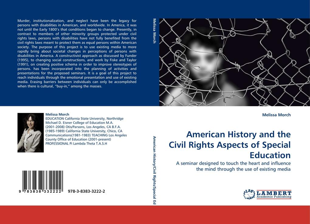 American History and the Civil Rights Aspects of Special Education als Buch von Melissa Morch - LAP Lambert Acad. Publ.