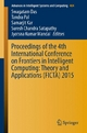 Proceedings of the 4th International Conference on Frontiers in Intelligent Computing: Theory and Applications (FICTA) 2015 - Swagatam Das;  Tandra Pal;  Samarjit Kar;  Suresh Chandra Satapathy;  Jyotsna Kumar Mandal