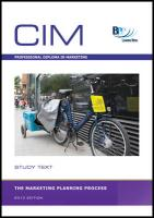 CIM - The Market Planning Process: Study Text - BPP Learning Media
