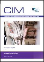CIM - Emerging Themes: Study Text - BPP Learning Media