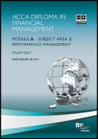 Dipfm - Performance Management: Study Text - BPP Learning Media