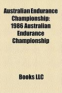 Australian Endurance Championship: 1986 Australian Endurance Championship