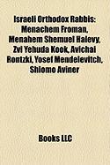 Israeli Orthodox Rabbis: Menachem Froman