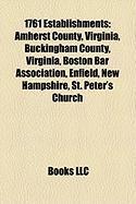 1761 Establishments: Boston Bar Association