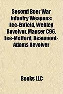 Second Boer War Infantry Weapons: Lee-Enfield, Webley Revolver, Mauser C96, Lee-Metford, Beaumont-Adams Revolver