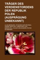 Träger Des Verdienstordens Der Republik Polen (Ausprägung Unbekannt)
