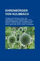 Ehrenbürger Von Kulmbach