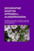 Geographie (Kanton Appenzell Ausserrhoden)
