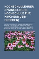 Hochschullehrer (Evangelische Hochschule Für Kirchenmusik Dresden)